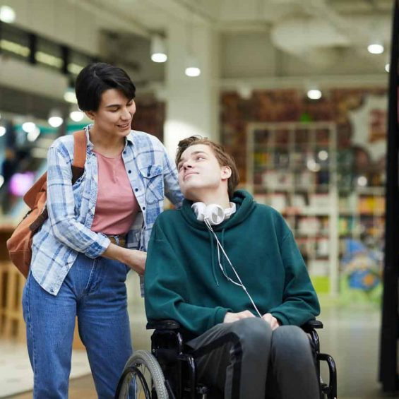 Taking care of disabled student